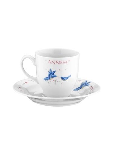 Kütahya Porselen Yasemin 12 Parça 10228 Desen Kahve Takımı Renkli
